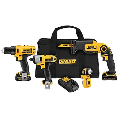 DeWalt® 12 V Lithium-ion Tool Combo Kit, 4 Pieces