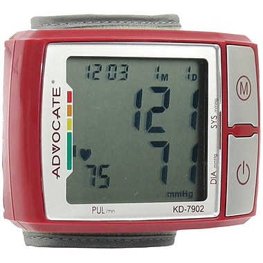 Advocate Q3IKD7902 Wrist Blood Pressure Monitor with Color Indicator