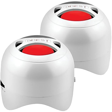Dbest PS4003BT-GW Duo Bluetooth Rechargeable Mini Speaker Set, White