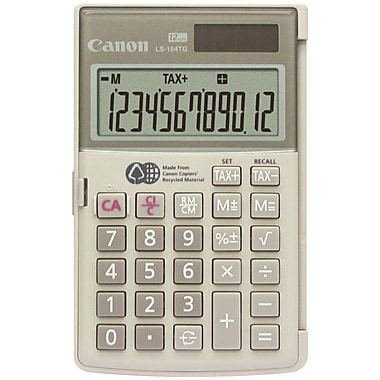 Canon® LS-154TG 12-Digit Display Handheld Calculator