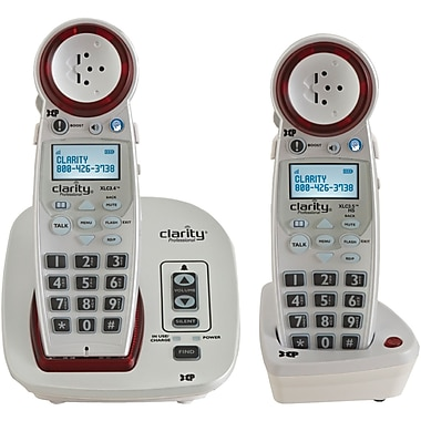 Clarity CLARXLCCOMBO Amplified Cordless Office Telephones, White