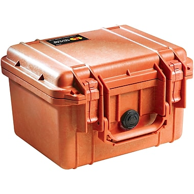 Pelican 1300 Case With Foam, Orange