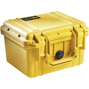 Pelican 1300 Case With Foam, Yellow