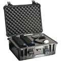 Pelican 1550 Case With Padded Divider, Black