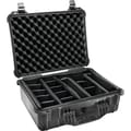 Pelican 1520 Case With Padded Divider, Black