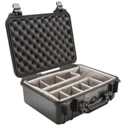 Pelican 1450 Case With Padded Divider, Black