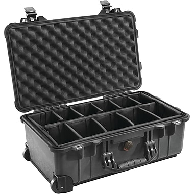Pelican Carry On Case With Padded Divider, Black