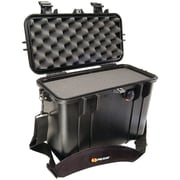 Pelican Top Loader Case With Padded Dividers and Lid Organizer, Black