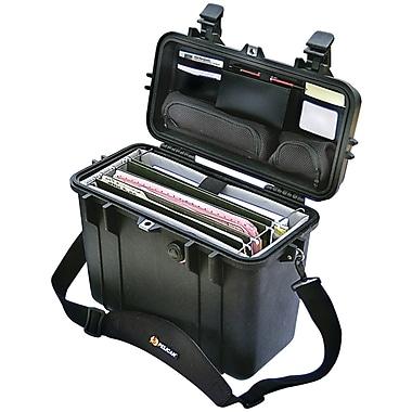 Pelican Top Loader Laptop Hard Case With Office Divider Set With Pick 'N' Pluck Foam Liner, Black