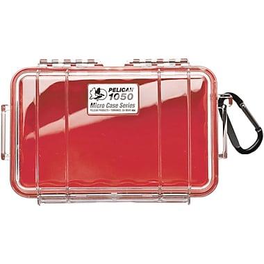 Pelican 1050 Waterproof Case, Red/Clear