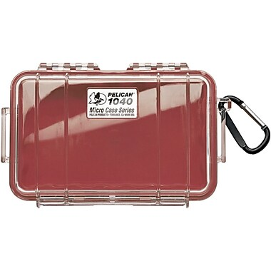 Pelican 1040 Waterproof Case, Red/Clear