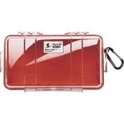 Pelican 1060 Raven Case, Red/Clear