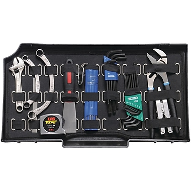 Pelican 0454-410-000 Vertical Tool Pallet With Strap, Black
