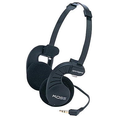 Koss® Lightweight Athletic Headphones, Black