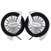 Koss® SportClip™ Headphones, Black/White/Gray