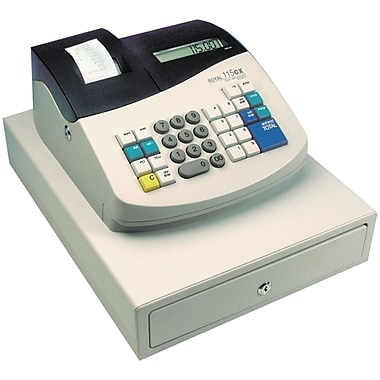 Royal 14508P Portable Battery-Operated Cash Register, White