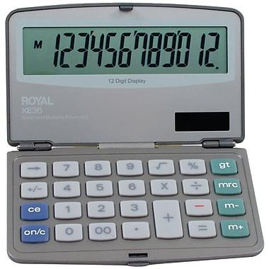 Royal® 29305Y 12-Digit Display Folding Solar Calculator