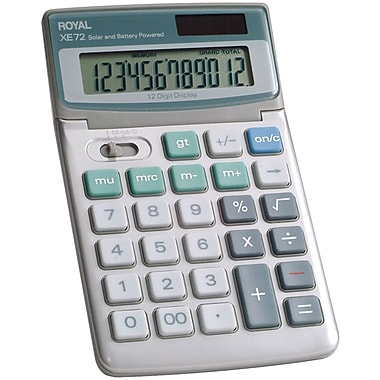 Royal® 29307U 12-Digit Display Desktop Solar Calculator