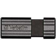 Verbatim® PinStripe 4GB USB 2.0 Flash Drive, Black