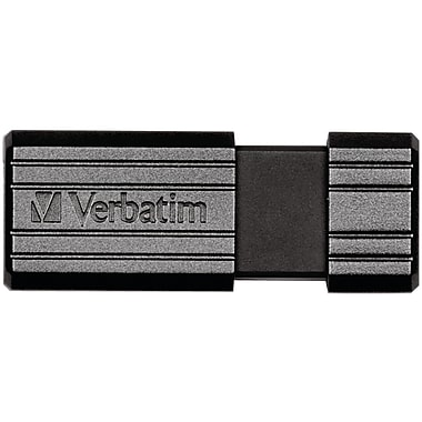 Verbatim® PinStripe 64GB USB 2.0 Flash Drive, Black