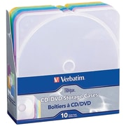 Verbatim® Trimpak CD/DVD Storage Case, Assorted, 10/Pack