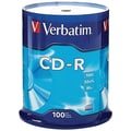 Verbatim® CD-R 80MIN 700MB 52X Branded, Spindle, 100/Pack