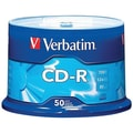 Verbatim® CD-R 80MIN 700MB 52X Branded, Spindle, 50/Pack