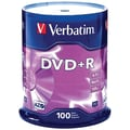 Verbatim® AZO 4.7GB 16X DVD+R, Spindle, 100/Pack
