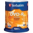 Verbatim® 95102 4.7GB 16X 120 min storage capacity DVD-RS, 100-ct Spindle