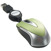 Verbatim VTM97254 USB Wired Optical Travel Mouse, Green