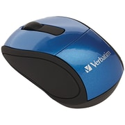 Verbatim® Wireless Mini Travel Mouse, Blue