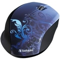 Verbatim® Wireless Optical Mouse Blue Design
