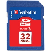 Verbatim® 32GB SDHC (Secure Digital High-Capacity) Class 4 Flash Memory Card