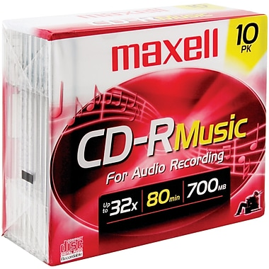 Maxell® 80MIN 700MB Music Jewel Cases CD-Rs