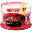 Maxell® 80MIN 700MB Music CD-Rs, Jewel Cases, 30/Pack