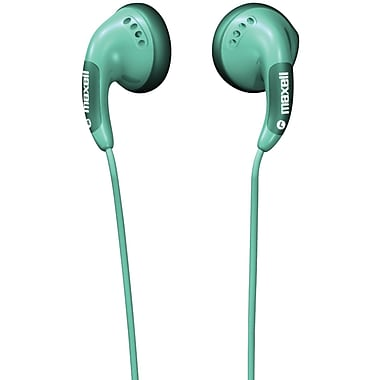 Maxell® Color Stereo Earbuds, Green