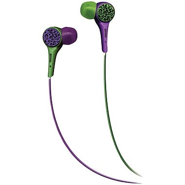 Maxell® Wild Things Flip Headphones, Purple and Green Leopard
