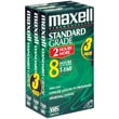 Maxell® 213035/213030 Standard Quality VHS Video Tapes, 3/Pack