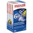 Maxell® 214006/214049 Standard Quality VHS Video Tapes, 4/Pack