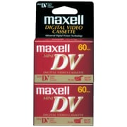 Maxell® 298012 Mini Digital Video Tapes, 2/Pack