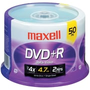 Maxell® 4.7GB 16X DVD+R, Spindle, 50/Pack