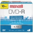 Maxell® 635040/635045/638004 4.7GB 16 X DVD-RS, 10/Pack
