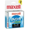 Maxell® 1.4GB Camcorder DVD-Rs, Jewel Cases, 3/Pack