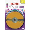 Maxell® 4.7GB 16X DVD+R, Blister, 5/Pack