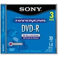 Sony® 3DMR30R1H 1.4 G Camcorder 8-cm Write Once DVD-RS, 3/Pack