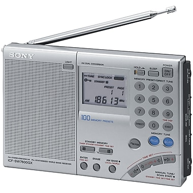 Sony® iCFSW7600GR FM Stereo World Band Receiver Radio
