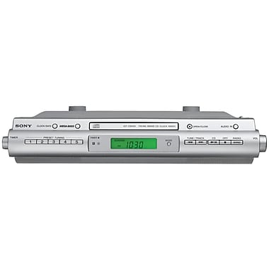 Sony® ICFCDK50 Under Cabinet Kitchen CD Clock Radio