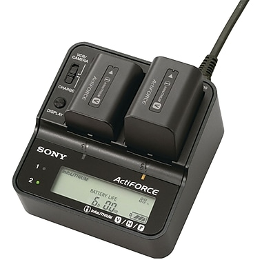 Sony® ACVQV10 Camcorder Charger For Infolithium V, H and P Batteries
