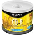 Sony® 80MIN 700MB Spindle Data CD-Rs, Spindle, 50/Pack