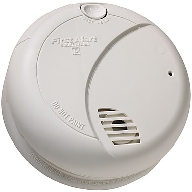 First Alert® Photoelectric Smoke Alarm With Silence, 85 dB